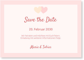 Save the Date Karten, Verliebte Herzen