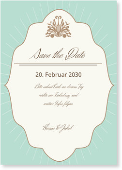 Save the Date Karten, Vintage Chic