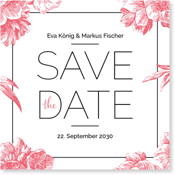 Save the Date Karten, Vintage flowers