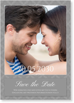 Save the Date Karten, Vintagemuster