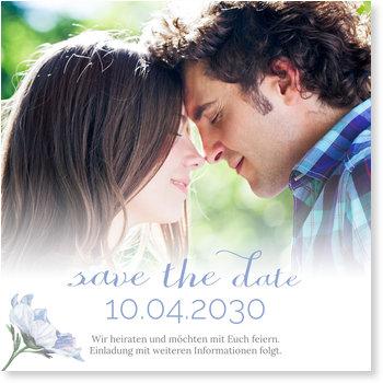 Save the Date Karten, Zarte Blüte