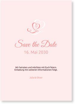 Save the Date Karten, Zarte Herzen