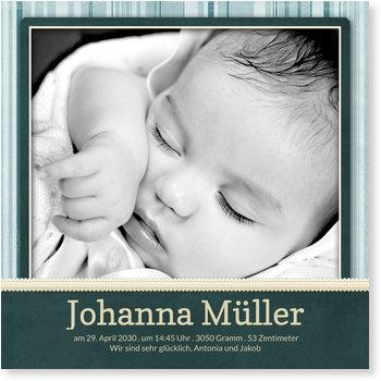 Geburtskarten, Ich bin da! in Smaragd
