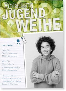 Einladungskarten Jugendweihe, Wunderbare Jahre
