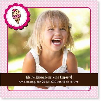 Einladungskarten Kindergeburtstag, Eisparty