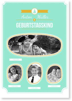Einladungskarten Kindergeburtstag, Geburtstagskind