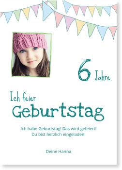 Einladungskarten Kindergeburtstag, Wimpel