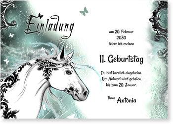Einladungskarten Kindergeburtstag, Zauberpferd