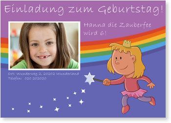 Einladungskarten Kindergeburtstag, Zauberfee