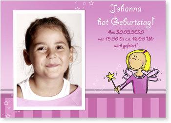 Einladungskarten Kindergeburtstag, Kleine Fee