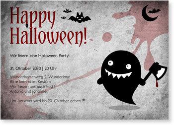 Einladungskarten Halloween , Kleiner Geist