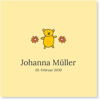 Geburtskarten, Kleiner Teddy