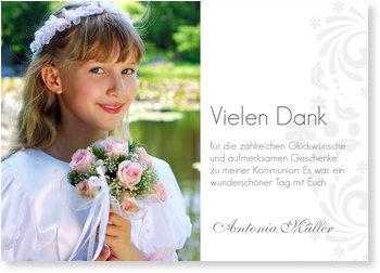 Danksagungskarten Kommunion, Danke zur Eleganten Einladung