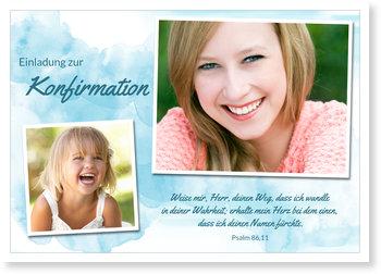 Einladungskarten Konfirmation, Aquarell