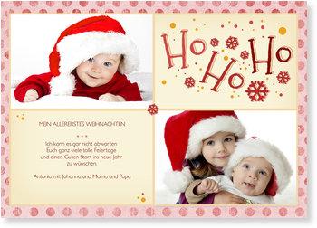 Weihnachtskarten Baby, Mein erstes