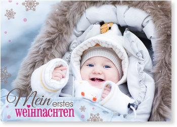 Weihnachtskarten Baby, Schriftzug