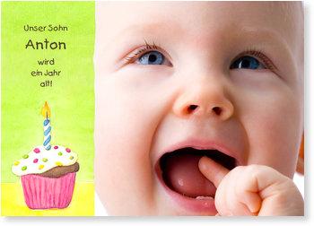 Einladungskarten Kindergeburtstag, Muffin