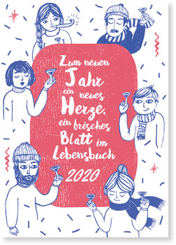 Neujahrskarten, Prost Neujahr!