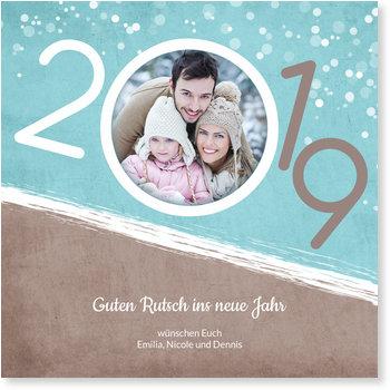 Neujahrskarten, Guter Rutsch