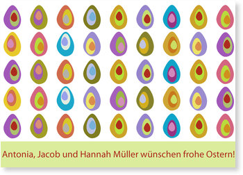 Osterkarten selbst gestalten, Osterparade