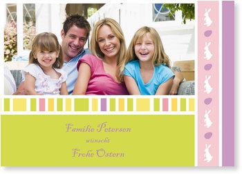 Osterkarten selbst gestalten, Frohe Ostern Familiengruß