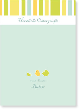 Osterkarten selbst gestalten, Osterküken