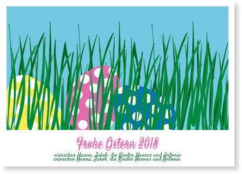 Osterkarten selbst gestalten, Versteckte Ostereier