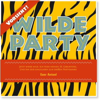 Einladungskarten Party, Partysafari Tiger