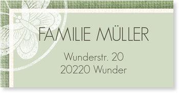Adressaufkleber Baby, Pastell in Lindgrün