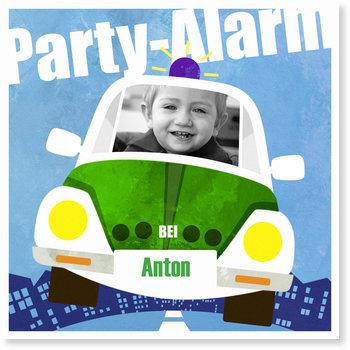 Einladungskarten Kindergeburtstag, Polizeiparty