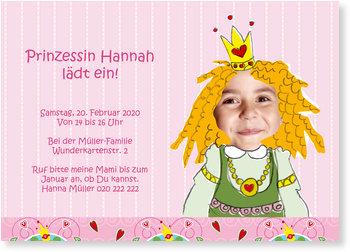 Einladungskarten Kindergeburtstag, Kleine Prinzessin feiert!
