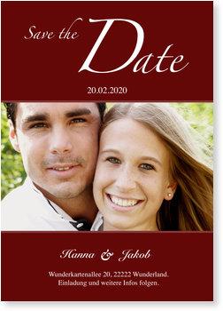 Save the Date Karten, Hochzeit Vorankündigung - Rot