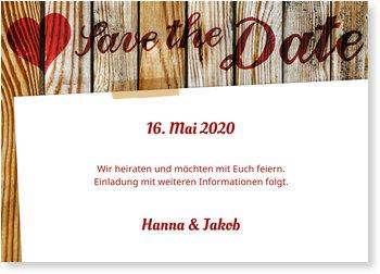 Save the Date Karten, Landliebe