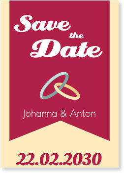 Save the Date Karten, Trauringe