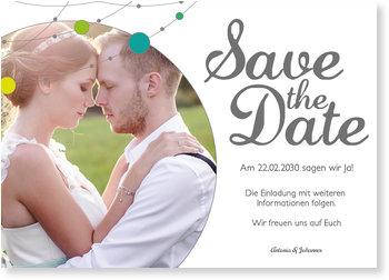 Save the Date Karten, Verspielte Girlande