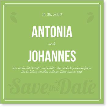 Save the Date Karten, Zarte Schrift