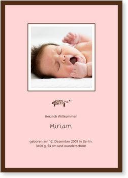 Geburtskarten, Schildkröte - Mädchen