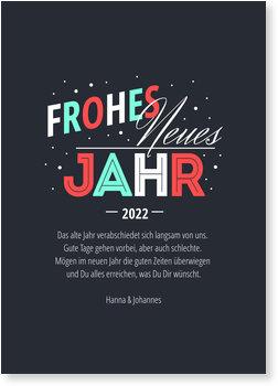 Silvesterkarten, Typografie