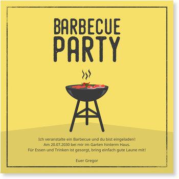 Einladungskarten Party, Barbeque Grill