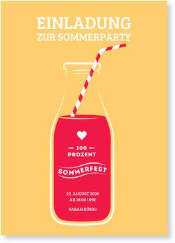 Einladungskarten Sommerfest, Limo