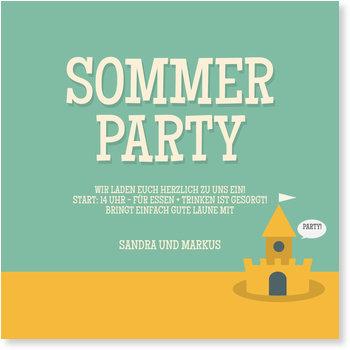 Einladungskarten Sommerfest, Sandburg