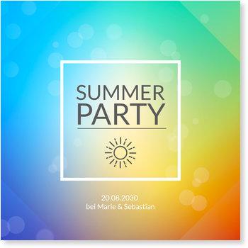 Einladungskarten Sommerfest, Sommerfarben