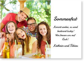 Einladungskarten Sommerfest, Sommerspaß