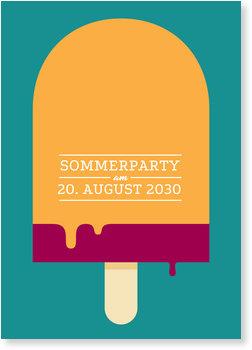 Einladungskarten Sommerfest, Wassereis