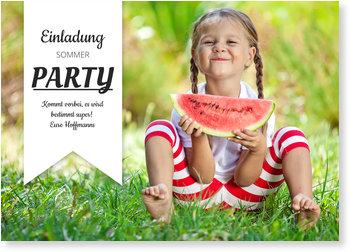 Einladungskarten Sommerfest, Wimpel
