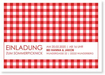 Einladungskarten Sommerfest, Sommerpicknick