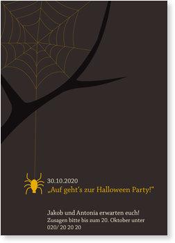 Einladungskarten Halloween , Krabbel Spinne