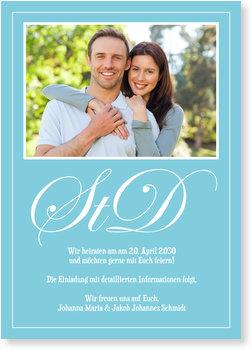 Save the Date Karten, Ornamenttypo