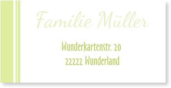 Adressaufkleber Baby, Moderne Einladung in Grün