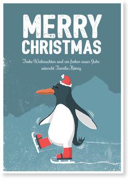 Aktuelle Weihnachtskarten, Pinguin